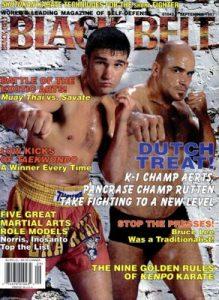 Black Belt Magazine Cover September 1997