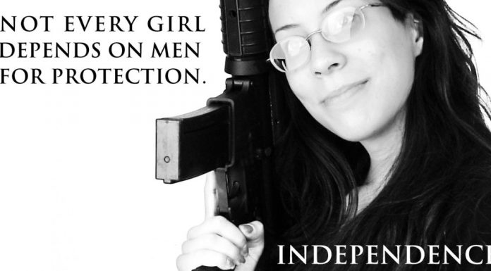 Not every girl depends on men for protection.
