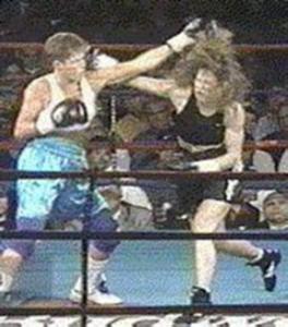 Kathy Long (right) vs. Sandy Yard
