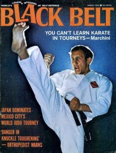 Ron Marchini on the cover of black Belt Magazine