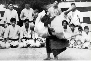 Jigoro Kano teaching uki goshi