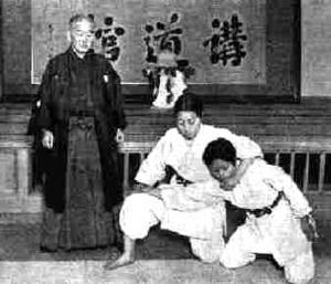 Prof. Kano teaches a woman's self-defense class at the Kodokan.