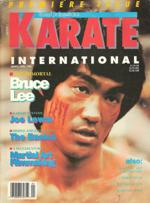 Bruce Lee on cover of March/April 1989 issue of Karate International Magazine