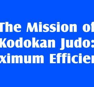 Judo: Maximum Efficiency