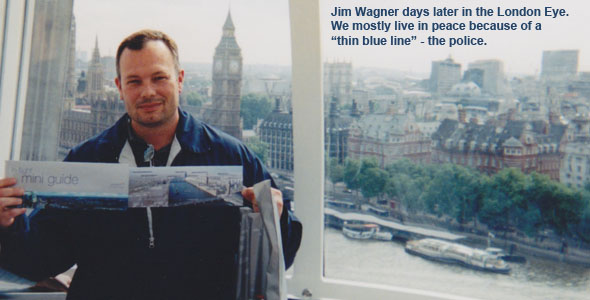 Jim Wagner in the London Eye