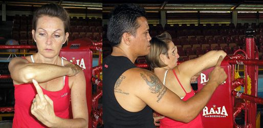 Forearm Point and Back Point of the Muay Thai Elbow