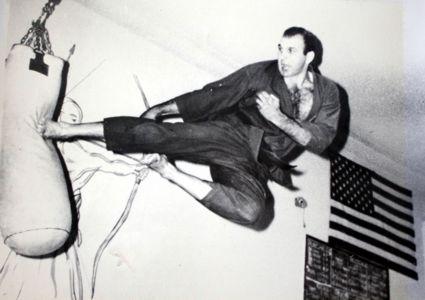 Bob Ozman Performing a Flying Sidekick