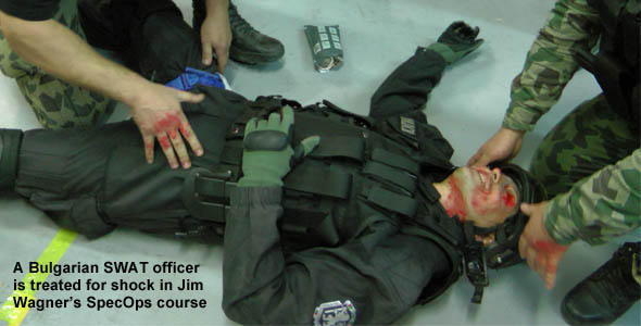 Bulgarian SWAT treating for shock