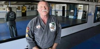 Karate Teacher Bob White Volunteers