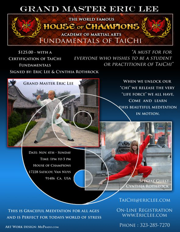 Eric Lee Fundamental of Tai Chi Workshop Poster