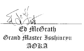 Sensei Ed McGrath Signature