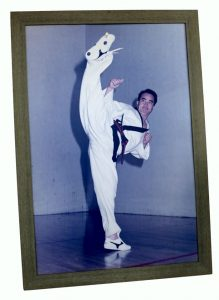 Photo of Il-Do Chang at the Martial Arts Museum in Chung-Ju City