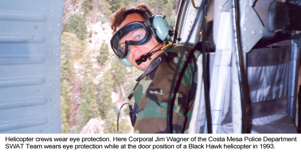 Wearing Eye Protection on Helicopters