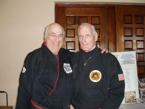 Hanshi Stephen Kaufman (left) and GM Gary Alexander