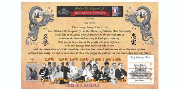 Mau Lineage Award 3013