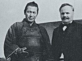 Arthur Tansley and Toshiro Mifune Training in Japan