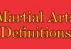 Martial Arts Definitions