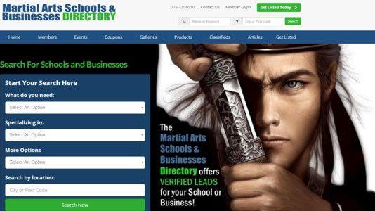 Martial Arts Schools Directory