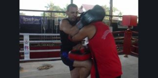 Antonio Graceffo Practicing Muay Lao