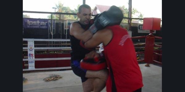 Antonio Graceffo Practicing Muay Lao