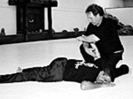 Sensei Elliot Freeman teaching bouncers