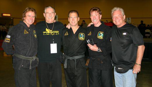 Aaron Norris, Tip Potter, Reggie Cochran, Chuck Norris and Duke Tirschel