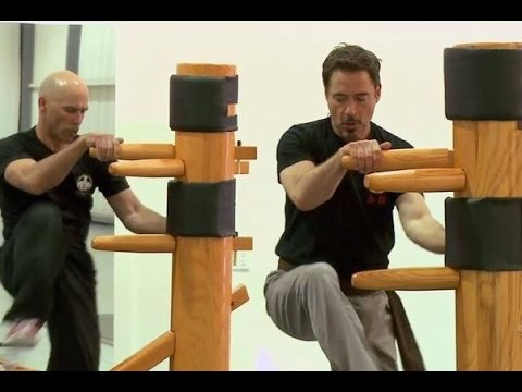 Robert Downey Jr doing Wing Chun