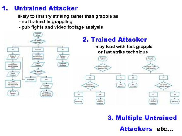Sports Karate and Traditional Fighting: Untrained Attacker