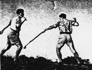 Walking Stick vs. Nabut, Mid 1940's