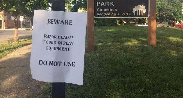 Safety Alert: Razor Blades in Playgrounds