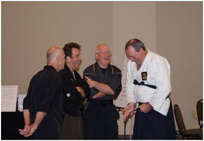 "Bill ""Super Foot Wallace, Shihan Dana Abbott, Sensei Dane S. Harden and Kyoshi Kevin Blok"