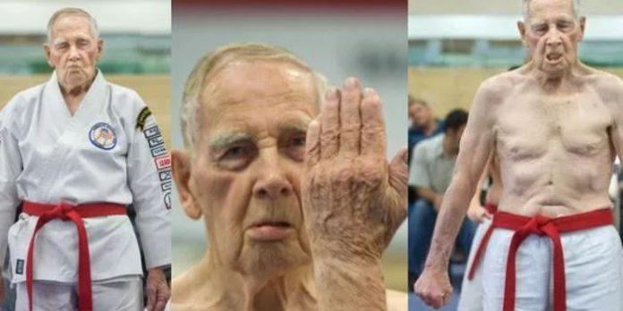 Chuck Geitner Black Belt at 85