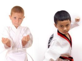 Kids Participating in Martial Arts