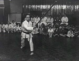 Budokan grandmaster Chew Choo Soot teaching in the Jubilee club, Preston