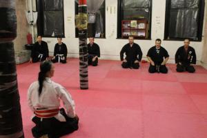 Shihan Handyside 8th Dan visiting our Dojo