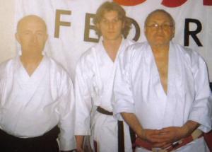 Simon Keegan with Alan Ruddock and Terry Wingrove in Poland