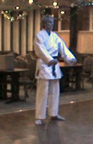 Simon Keegan 5th Dan grading in the Jubilee club where Chew Choo Soo taught 35 years before, in 2012