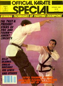 John Critzos II on the cover of Official Karate Magazine