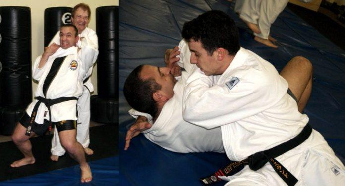 Wrestler Looks at Judo