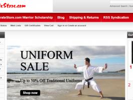 mykaratestore.com warrior scholarship