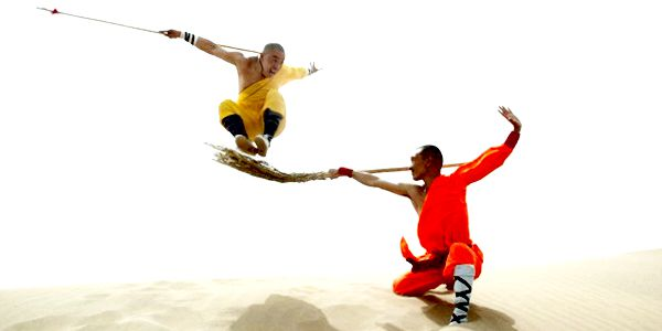 Shaolin Monks practicing Kung Fu