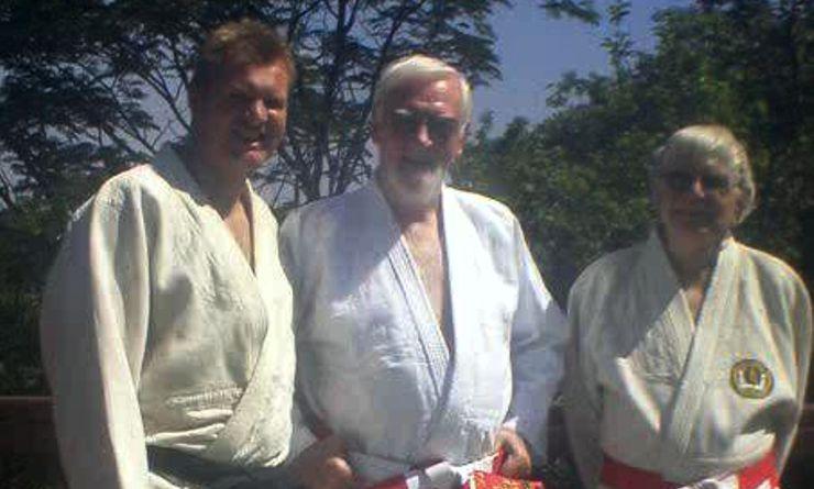 Jonathan Kruger, John Kruger and Fr Jude McKenna