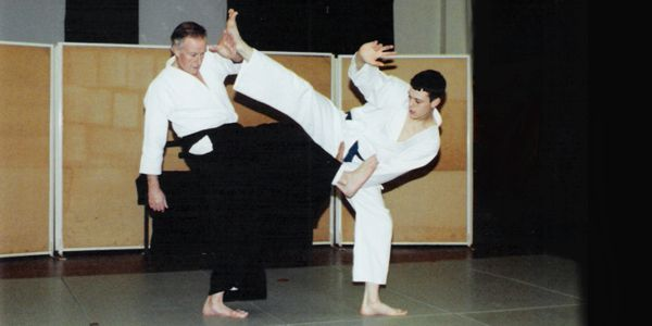 Henry and Ric Ellis Practicing Aikido
