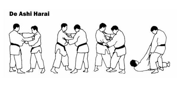 De Ashi Harai is the Judo Jab