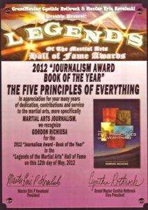 Gordon Richiusa Legends Hall of Fame Award