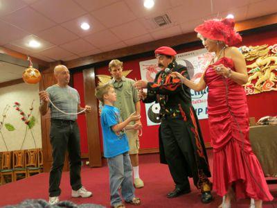 Bill Perron and Joycelyn Lew Perform Comedic Magic