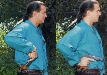 Steven Seagal Pistol Draw