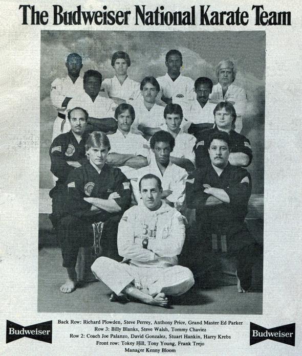 Richard Plowden and the Budweiser Team