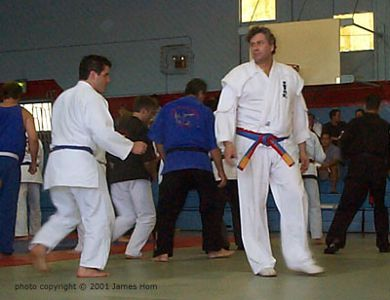 Frank Dux Teaching 2001 San Jose Gasshuku