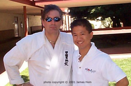 Frank Dux and Author James Horn